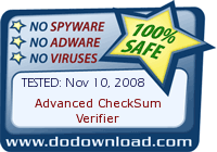 Nov 24, 2008. Found to be *Safe and Clean* at DoDownload.com